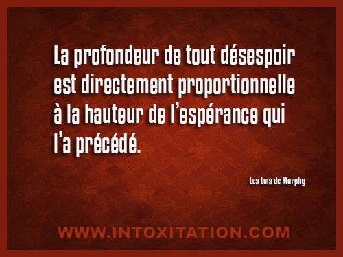Citation La Profondeur De Tout Désespoir E