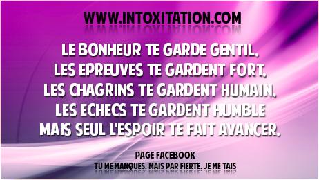 Citation Le Bonheur Te Garde Gentil Les Epreuves