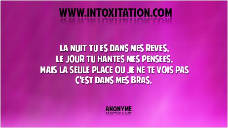 Citation La Nuit Tu Es Dans Mes Rêves Le Jour Tu